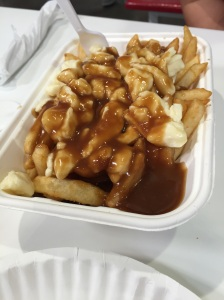 Although not the most authentic, Costco's rendition of poutine hit the spot!